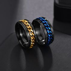 Punk Jewelry, Jewelry Party, Rings Cool, Unique Rings, Dragon Ring, Great Gifts For Men, Chains For Men, Stainless Steel Rings, Black Rings