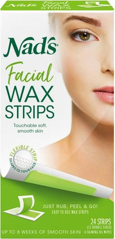 Nad's Hair Removal Facial Wax Strips are easy to use. Nad¿s Facial Wax Strips easily remove unwanted facial hair for up to four weeks of smooth hair-free skin. Natural Facial Hair Removal, Underarm Hair Removal, Chin Hair Removal, Upper Lip Hair Removal, Permanent Facial Hair Removal, Remove Unwanted Facial Hair, Hair Removal Diy, Facial Waxing, Hair Removal Methods