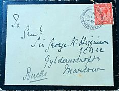 #kgv #1916 #cover #gcb #stamps #stampcollecting #philately #kinggeorgev #higginson