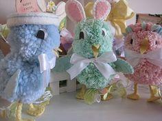 Pom Pom Chicks & Bunny