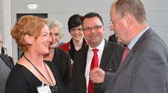 Auf der Landesdelegiertenkonferenz der NRWSPD am 16.03.2013 in der Stadthalle Bielefeld im Gespräch mit Peer Steinbrück