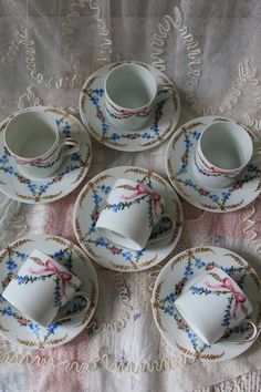 """France antique Royal Limoges porcelain demitasse cup and saucer 6 customer set boxed"" Koh Kong, Fuat Coconfouato [antique lighting and antique furniture] French antique canister set enameled pottery tableware --kitchen--"