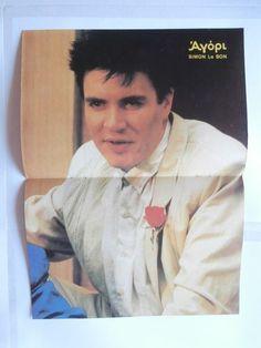 Simon Le Bon Michalopoulos Mini Poster Greek Magazines clippings 80s 90s | eBay