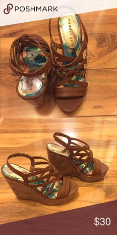 Madden Girl Wedge Heel, Brown, Size 6 Brand new, never worn Madden Girl brown wedge heels size 6 Madden Girl Shoes Wedges