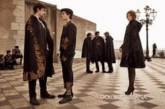 #dolcegabbana men's FW13: Actors Francesco Scianna, Brenno Placido, Flavio Parenti, Carmine Recano and Gianmarco Tognazzi, supported by Bianca Brandolini D'Adda #advertising