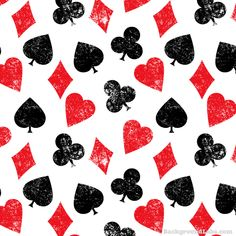 Playing Cards Symbols Pattern - Background Labs