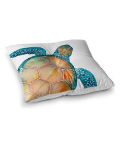 Oversize Sea Turtle Floor Pillow