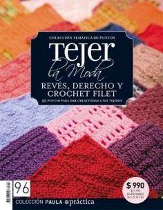 Revista de crochet, revéz, derecho y crochet filet