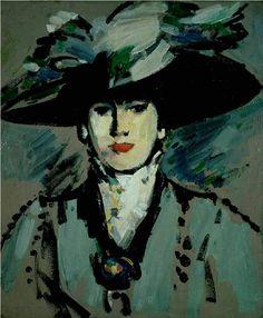 J D Fergusson   Woman in Hat
