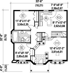 First Floor Plan of House Plan 52394