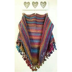 Large Floral boho shawl 💜💙💚💛❤