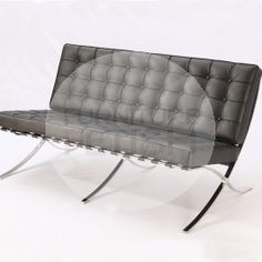 Replica Barcelona Chair - Platinum Edition 2 seater (Black) Other Side Hanging Egg Chair, Office Furniture Online, Outdoor Wicker Furniture, Eames Chairs, Barcelona Chair, Occasional Chairs, Cool Chairs, Chair Design, Lounges