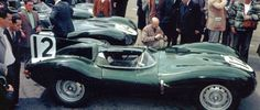 Le Mans 54 Jaguar D n°12 Abandon 12° heure freins Pilotes Moss