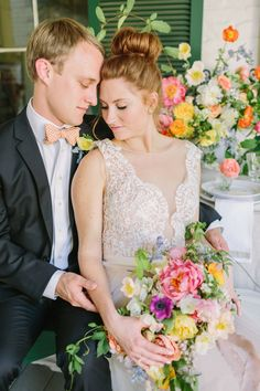 Everyone loves a good neutral and greenery bouquet, but when photographer Kati Mallory asks you to complete her flower power vision for a bright and summery southern elopement, you make it happen! Nothing screams summer like some bright, punchy blooms! It's like sangria in flower form. It doesn't take much to make a wedding feel personal. Some thoughtful table settings, unique invitations, and signature blooms makes wedding magic every time! Wedding Reception Flowers, Wedding Reception Centerpieces, Floral Wedding, Winter Wedding Colors, Summer Wedding Colors, Wedding Coordinator, Wedding Planner, Unique Invitations, Wedding Color Schemes