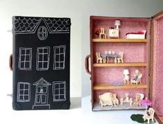 Suitcase now doll house and storage
