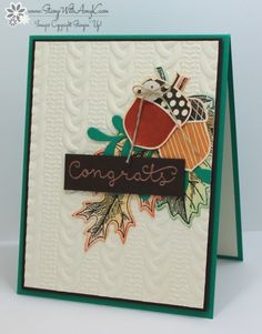 Stampin' Up! Acorny Thank You With Vintage Leaves – Stamp With Amy K