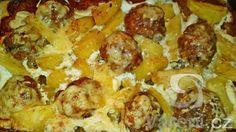 Recept na velmi chutný eintopf z mletého masa a brambor, vše zapékáme ve sladké smetaně se sýrem.