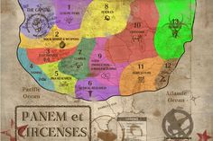 Use this #hungergames map to seat guests in each of the 13 districts