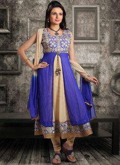 Beautiful Blue Georgette Anarkali suit SLMSLD1117B