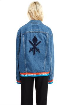 Opening Ceremony | OC Logo Denim Trucker Jacket | Opening Ceremony