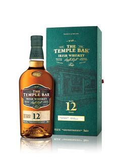Temple Bar 12 Year Old Irish Whiskey Irish Whiskey, Bourbon Whiskey, Scotch Whisky, Champagne Drinks, Cocktails, Blended Whisky, Temple Bar, Single Malt Whisky, Wine And Liquor
