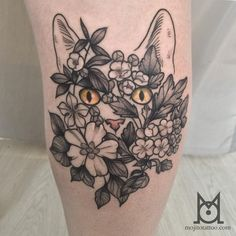 By @inkbymo done a couple weeks ago #CatTattoo