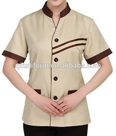 2015 New Design High Quality restaurant hotel uniform supplies waitress uniform