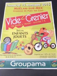 affiche VIDE GRENIER SPECIAL ENFANTS JOUETS