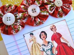 Retro Sewing Pattern Notepad Note Pad by SewMaryjane on Etsy