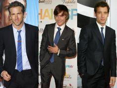gravata azul com terno preto