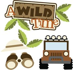 A Wild Time SVG Scrapbook Collection safari svg files for scrapbooking cardmaking 99 cents! Jungle Theme Birthday, Jungle Party, Safari Party, Safari Theme, Scrapbook Titles, Disney Scrapbook, Scrapbooking Layouts, Digital Scrapbooking, Scrapbook Images
