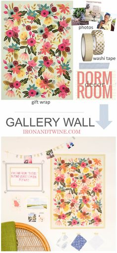 dorm room decor : easy gallery wall | the handmade home