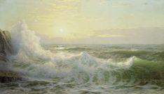 william trost richards | William Trost Richards >> Las olas iluminadas por el sol | (oleo, obra ...