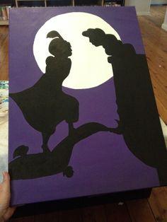 Aladdin and Jasmine canvas painting by Belinda Harris