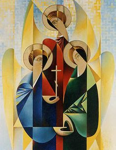 1992, 100x80sm, oil on canvas, #XIV  «Trinity»