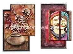 Mural Art, Murals, Clay Wall Art, Art N Craft, Online Tutorials, Mix Media, Clay Crafts, Acrylics, Art Sketches
