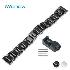 >> Click to Buy << 20mm Ceramic Watch Band for Motorola Moto 360 2 42mm Men 2015 Butterfly Buckle Strap Wrist Belt Bracelet Black White + Tool #Affiliate
