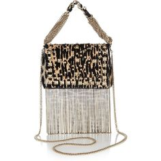 Jimmy Choo Cecile printed calf hair mini shoulder bag found on Polyvore