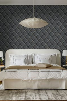 Sandbergs tapeter, Grace Mimi 499-91   Tapetshopen.se Home Wallpaper, Upholstered Furniture, Bedroom Inspo, Luxury, 1920s, Shapes, Design, Home Decor, Textiles
