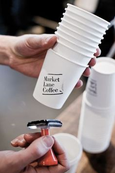 Market Lane - Designed by Swear Words. Stamping the cups Informations About Market Lane Pin You can easily use my - Cafe Shop Design, Coffee Shop Interior Design, Coffee Cup Design, Small Cafe Design, Small Restaurant Design, Design Market, Kiosk Design, Coffee Carts, Coffee Truck