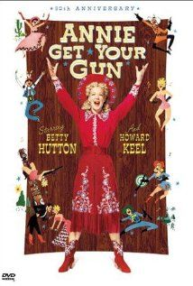 """Annie Get Your Gun"" (dir. George Sidney, 1950) --- The story of the great sharpshooter, Annie Oakley (Betty Hutton), who rises to fame while dealing with her lover and professional rival, Frank Butler (Howard Keel). Based on the Broadway musical by Herbert & Dorothy Fields."