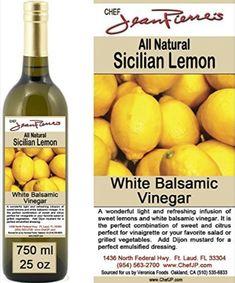 "Traditional Barrel aged 12 years ""Sicilian Lemon White Balsamic"" 100% ALL NATURAL Vinegar 750ml (25oz) Balsamic Vinegar Of Modena, White Balsamic Vinegar, Salad Recipes For Dinner, Dinner Salads, Strawberry Balsamic, Cooking Supplies, Organic Fruit, Grilled Vegetables, Sicilian"