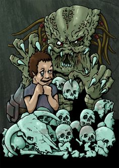 Pred and Friend by brewsterart.deviantart.com on @deviantART