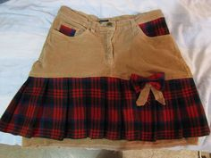 A tartan skirt from pants & fabric remains