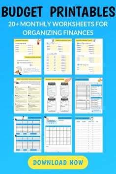 Over 40 printable budget collectors for organizing finances, paying off debt and saving money These budget printables will change your life! These are the exact budget printables we used to create a budget that's been working for years, pay off debt, a Budget Binder, Budget Spreadsheet, Monthly Budget Planner, Savings Planner, Making A Budget, Create A Budget, Budget Help, Planning Budget, Financial Planning