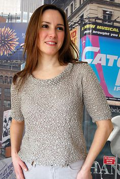 Ravelry: Manhattan Tee to Knit pattern by Val Love