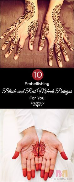 10 Embellishing Black and Red Mehndi Designs For You!
