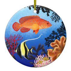 Miniatus Grouper Coral Reef Ornament  #coralreef  #ornaments