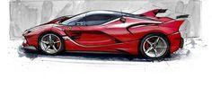 Ferrari FXX K Design drawing
