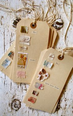 "The ""To"" and ""From"" kind of ruin the tag, but I like the sewn collage bits."